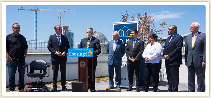 HOUSING FIRST – SAN DIEGO Announcement News Conference