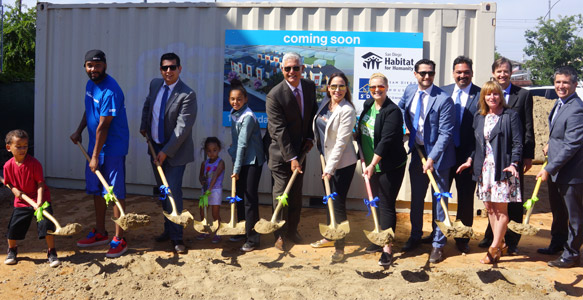 <span>Townhomes for First-Time Homebuyers</span><br>SDHC partnership with San Diego Habitat for Humanity will help 11 low-income families become homeowners in Logan Heights. Read the News Release 4.26.17